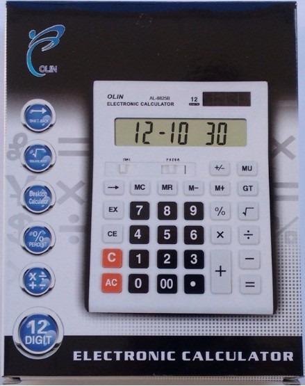 Calculadora De Mesa Eletrônica 12 Dígitos Solar E Pilhas Aaa