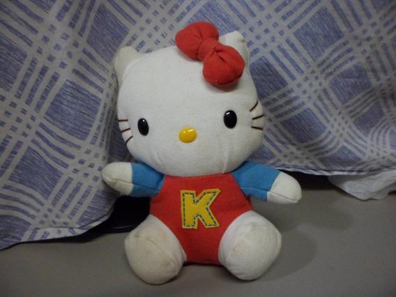 Hello Kitty Pelúcia Sanrio Usada 21 Cm