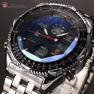 Reloj Shark De Lujo Negro Lcd Digital Cronómetro Alarma