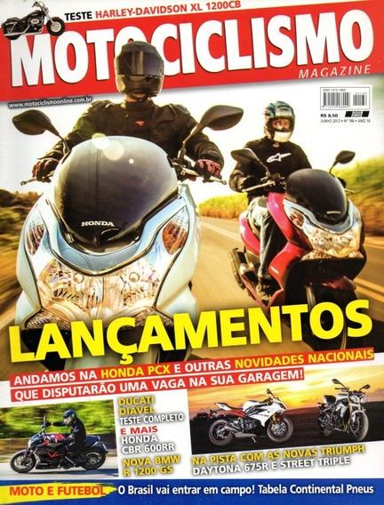 Motociclismo N°186 Honda Pcx Harley Xl 1200cb Daytona 675r