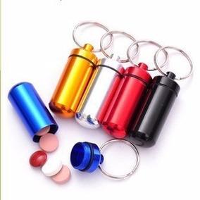 Snuff Bullet Prata Chaveiro Porta Remédio Discreto Alumínio