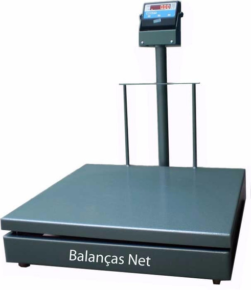 Balança 300kg Eletromecânica Digital 60x70 C/ Coluna Inmetro