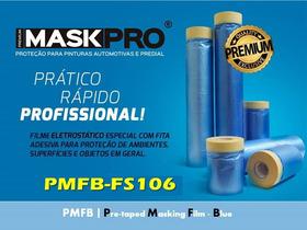 Filme Plástico Azul P/mascaramento Com Fita Crepe- Kit Fs106
