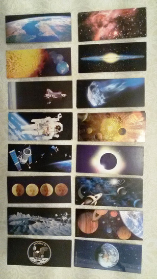 Cards / Figurinhas Nestlé Surpresa - Coleção Viagem Espacial