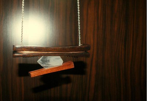 Colar Em Madeira Com Resina /cobre Em Aço Inox Desgner Único