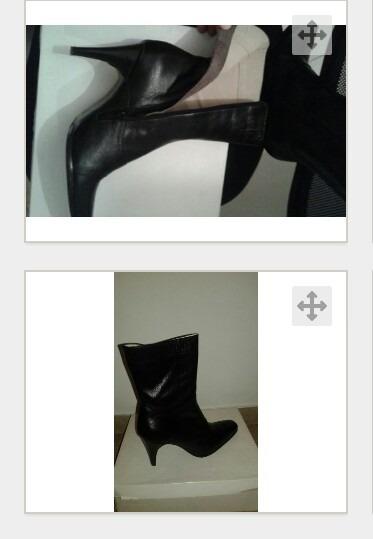 Botas Negras De Cuero Impecables.