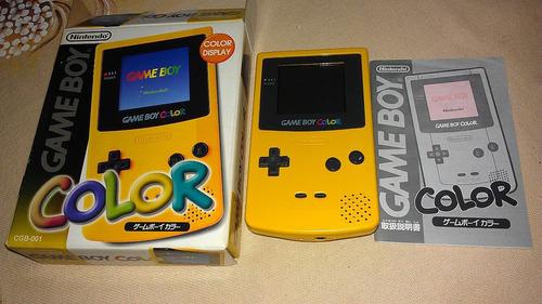 Imagem 1 de 5 de Game Boy Color Amarelo Completo Em Ótimo Estado
