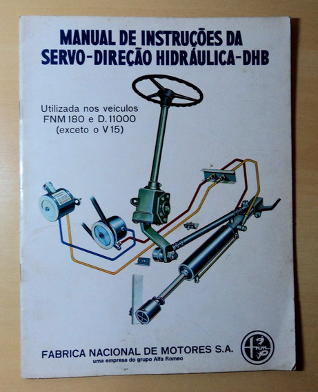 Manual Servo Direção Hidráulica Dhb - Fnm 180 E D11000