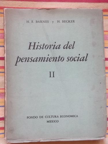 Historia Del Pensamiento Social Ii Barnes Y Becker