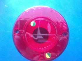 Lanterna Traseira Luz Freio Onibus Caminhao Vermelho 125mm