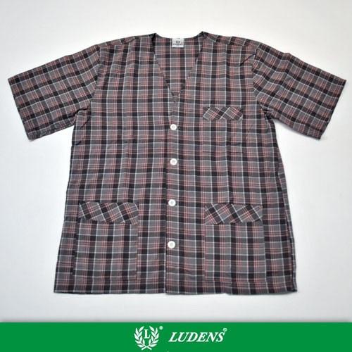 Art814 Pijama Camisero Manga Y Pantalon Corto - Ludens
