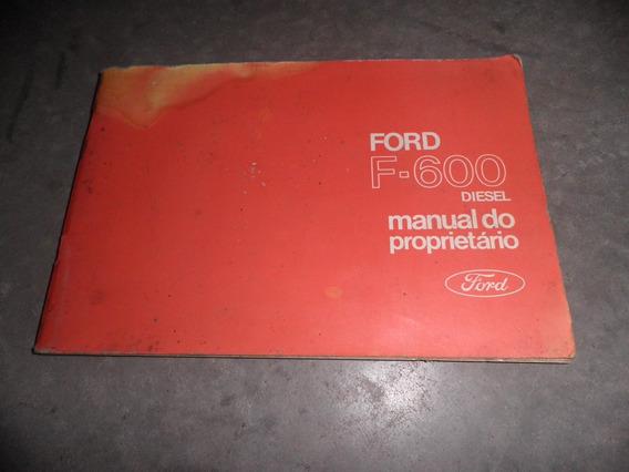 Ford F600 Manual Do Proprietário 1972
