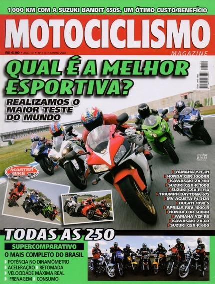 Motociclismo N°114 Yzf-r1 Cbr 1000rr Zx-10r Gsx-r 1000 750