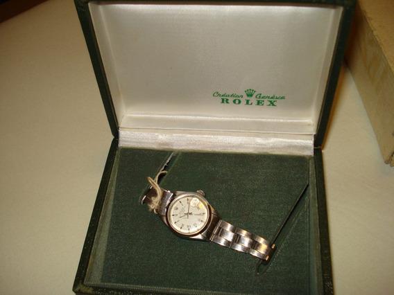 Relogio Rolex Oyster Original Aço Pequeno Com Caixa