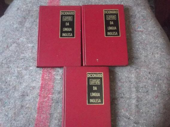 Dicionário Lotus Da Língua Inglesa 3 Volumes - Raridade