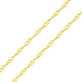 Corrente Colar Singapura Feminino B/ Ouro 18k 750 Promoção