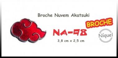 Colar Broche Nuvem Akatsuki