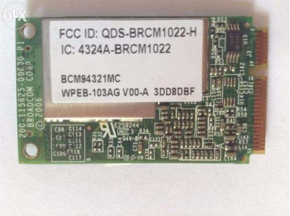 Hp Dv6000 Series Placa De Red Wifi Bcm94321mc 412766-002