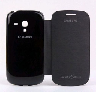 Capa Flip Cover Para Samsung Galaxy S3 Mini - I8190 - Preta