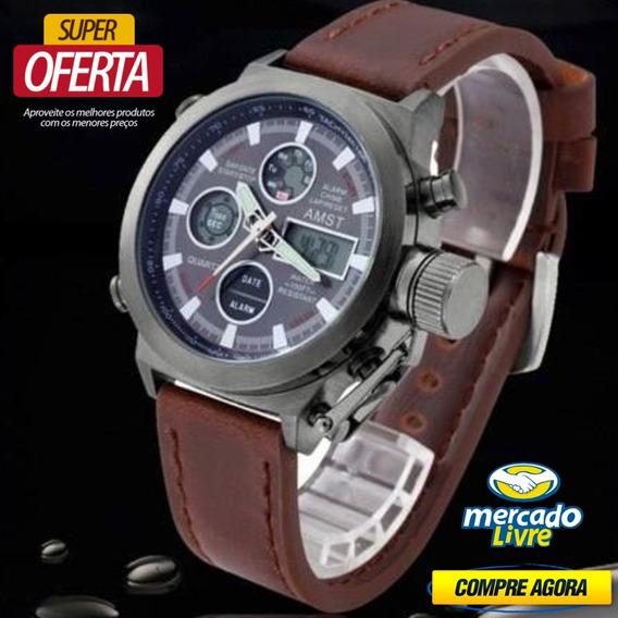 Relógio Masculino Amst 3003 Militar Esportivo - Frete Grátis