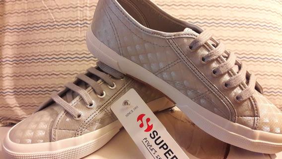 Tênis Sapatênis Superga 2750 - Syntw Silver - Prata