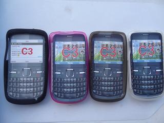 Capa Silicone Original Da Kingo P/ Nokia C3 - Frete 5,00