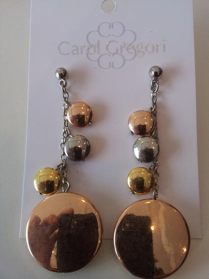Brinco Peças Prateadas, Dourada E Rosé 4193 - Carol Gregori