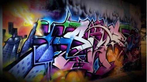 Imagen 1 de 5 de Graffiti, Murales, No Vinilo Decorativo, Cuadros, Tripticos