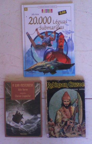 Robson Crusoe// Ilha Misteriosa//20 Mil Léguas Submarinas