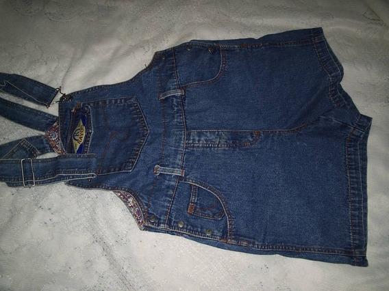 Macacao Jeans Retro Tamanho M