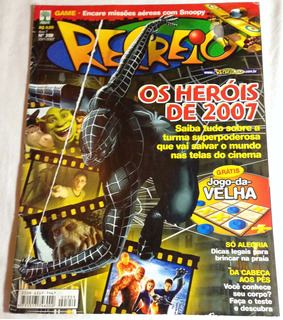 Revista Recreio Ano7 Nº359 Heróis De 2007 Games Filmes Hq Tv