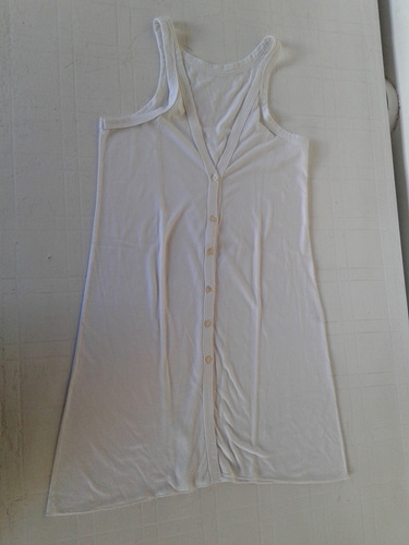 Musculosa Blanca De Algodon Talle M