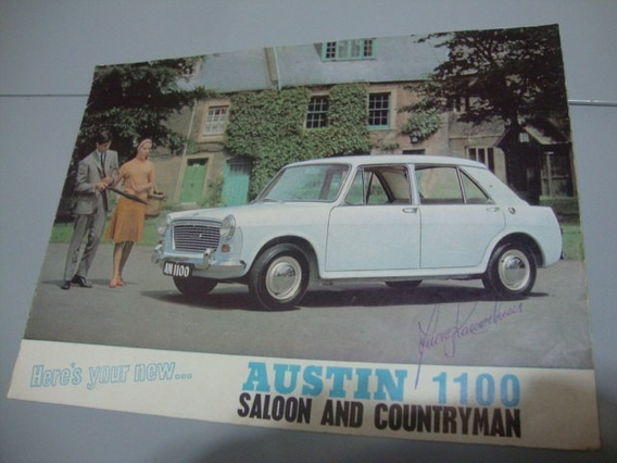 Austin 1100 Saloon E Countryman Folder/catalogo Original