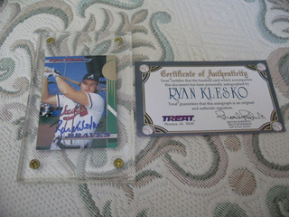 1993 Stadium Club Autografo Certificado Threat Ryan Klesko