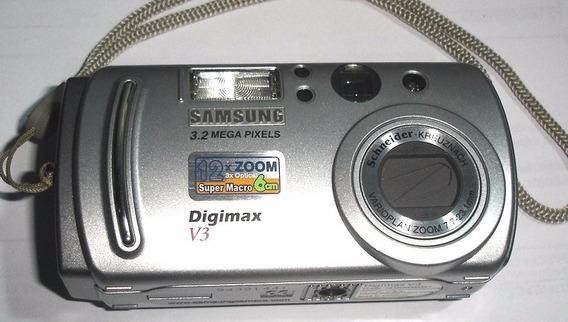 Câmera Samsung Digimax V3 Para Retirada De Peças
