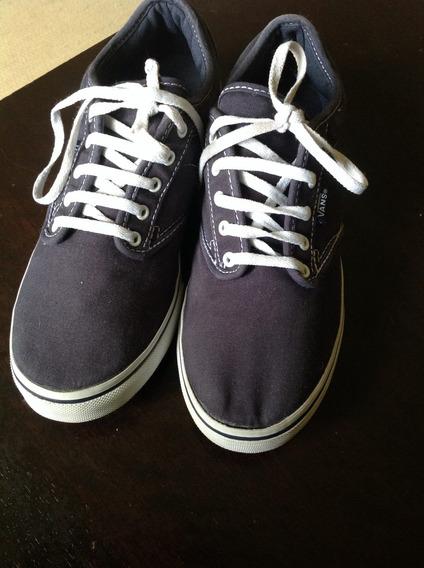 Zapatillas Vans De Mujer Azules Como Nuevas! Un Día De Uso!