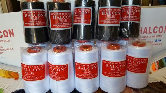 Hilos De Coser Blanco Negro Halcón