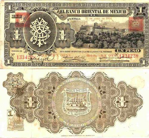 Imagen 1 de 1 de Billete De Un Peso Sello Cuadrado
