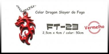Colar Colar Dragon Slayer Do Fogo