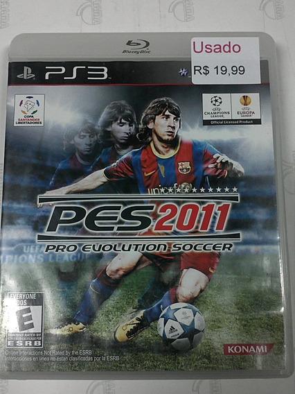Pro Evolution Soccer 2011 Ps3 Pes 2011 Mídia Física Usado