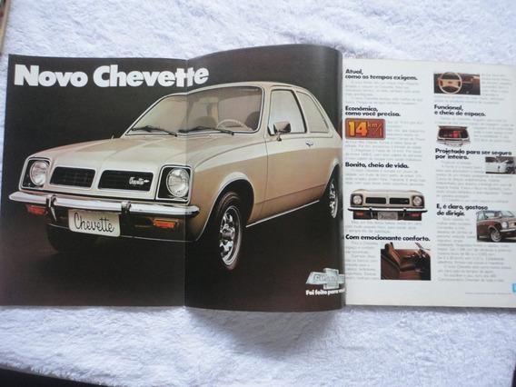 Revista 4 Rodas Nº 206 1977 Poster Gigante Chevette/passat