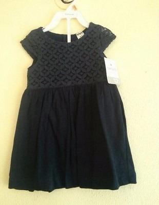 Vestido Carters Renda Azul Marinho 12 Meses