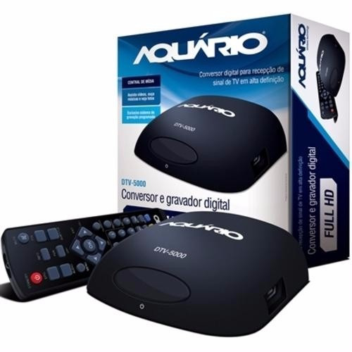 Conversor Digital Tv Full Hd Gravador Aquário Dtv 5000 Usb