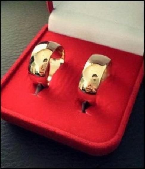 Par Alianças Tungstenio,banhada A Ouro 8mm,