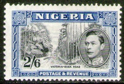 Nigeria Sello Nuevo Ruta Victoria = Buea Dent. 13x11½ = 1938