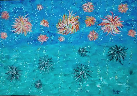 Pintura Original Paulo Maciel No Céu, No Mar