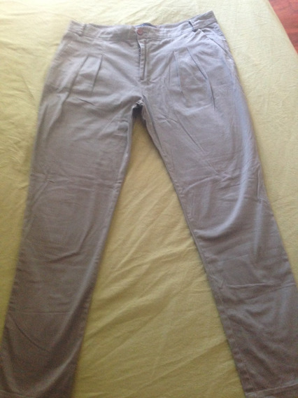 Pantalón Semi Elastizado De Zara Cint 46 Cad 64 Tiro 28cm
