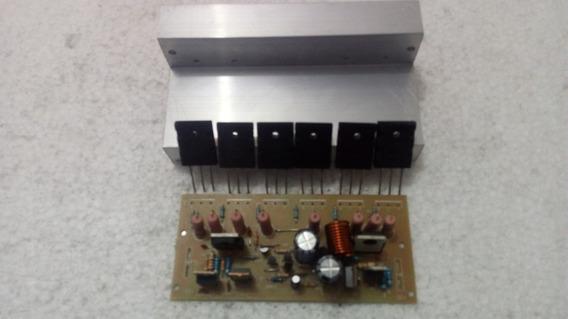 Placa Amplificador Montada + Dissipador + 2sc5200/2sa1943