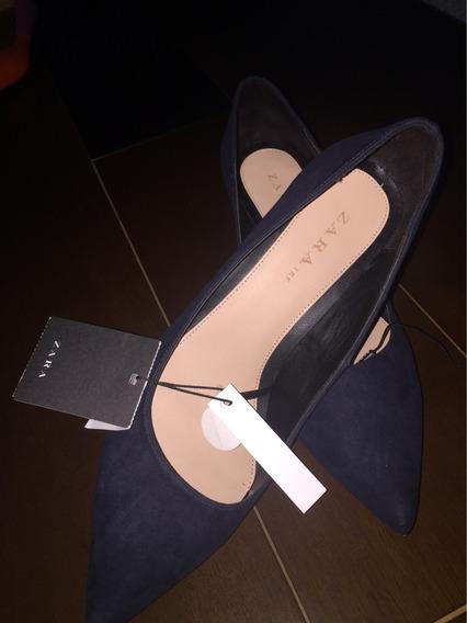 Sapato Zara Azul Marinho Nunca Usado