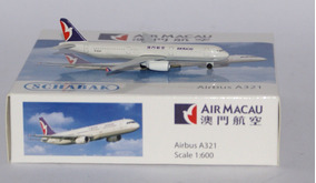 Air Macau Airbus A321 Escala 1:600 Schabak Schuco Aviation